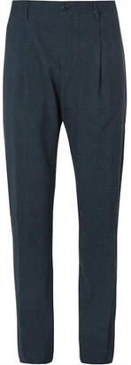 Ermenegildo Zegna Blue Puppytooth Woven Suit Trousers