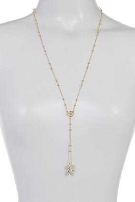 Rebecca Minkoff Stone Mix Beaded Y Necklace $68 thestylecure.com