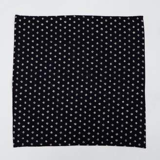 Blade + Blue Indigo Dyed Dot Print Cotton Pocket Square