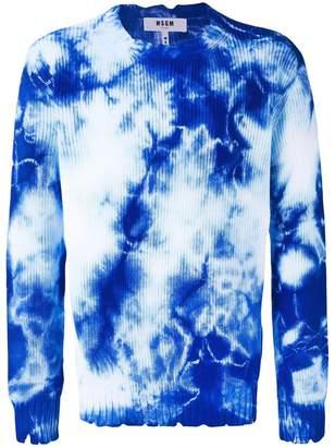 MSGM tie dye-print jumper