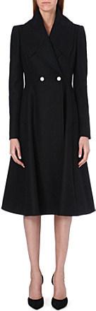 Alexander McQueen Long flared wool coat