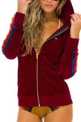 Aviator Nation Velvet Zip Up