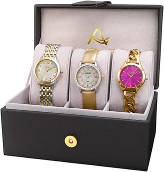 August Steiner Women's Set Of 3 Diamond Watches