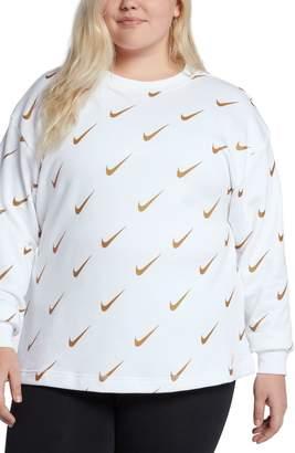 Nike NSW Rally Metallic Logo Sweatshirt