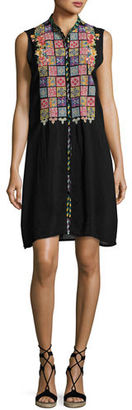 Johnny Was Torreya Sleeveless Georgette Dress, Plus Size $320 thestylecure.com