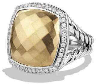David Yurman Albion Ring with Diamonds and Gold