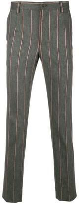 Dolce & Gabbana striped slim-fit pants