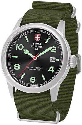 Swiss Military BY CHARMEX By Charmex Vintage Mens Green Strap Watch-78335_8_A