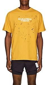 Satisfy Men's Marathon Distressed Cotton T-Shirt - Mustard