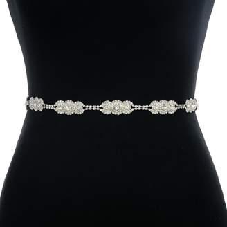ULAPAN Women's Rhinestones Bridal Belt Bridal Sash Wedding Belts Wedding Sashes