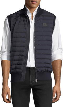 Moncler Maglia Quilted Tricot Gilet