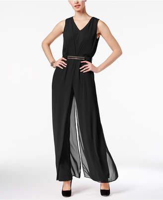 Thalia Sodi Chiffon-Overlay Jumpsuit