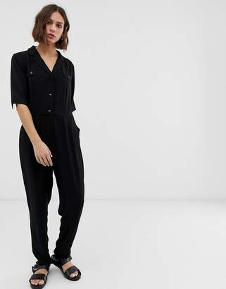B.young button front jumpsuit