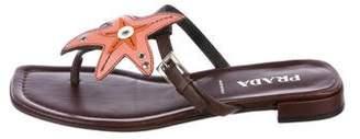 Prada Star Thong Sandals
