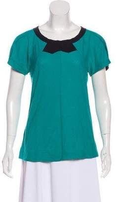 Marc by Marc Jacobs Short Sleeve Round Collar Blouse