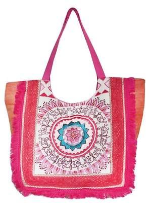 AMERICA & BEYOND Multi-Color Embroidered Stonewash Bag