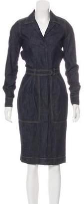 Tomas Maier Denim Button-Up Dress blue Denim Button-Up Dress
