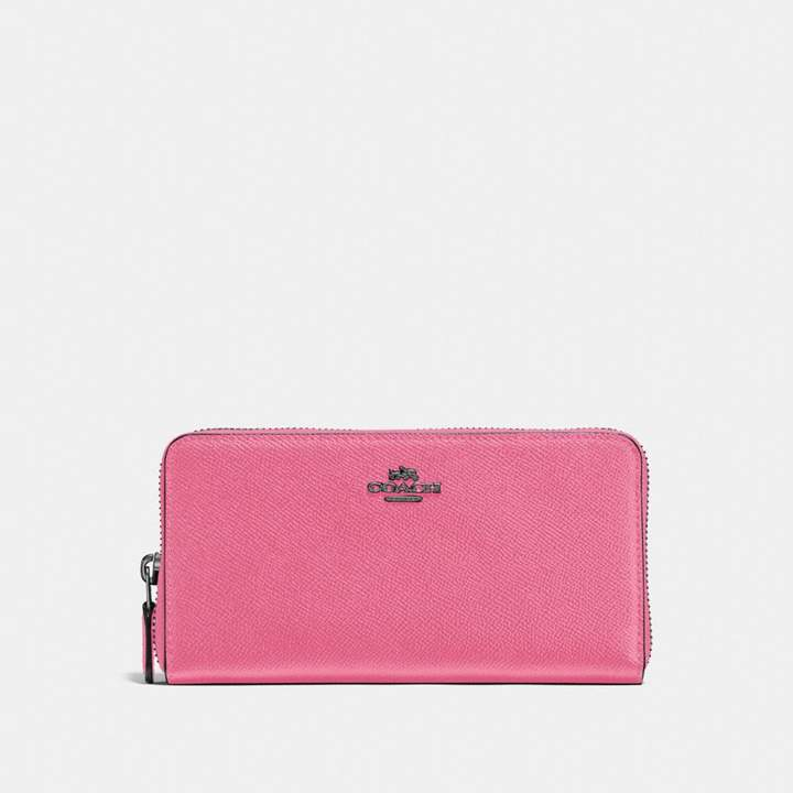 Coach New YorkCoach Accordion Zip Wallet - BRIGHT PINK/DARK GUNMETAL - STYLE