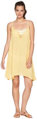 Roxy Softly Love Solid Dress Cover-Up Women's Swimwear