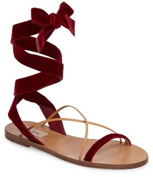Women's Valentino Lace-Up Sandal $595 thestylecure.com