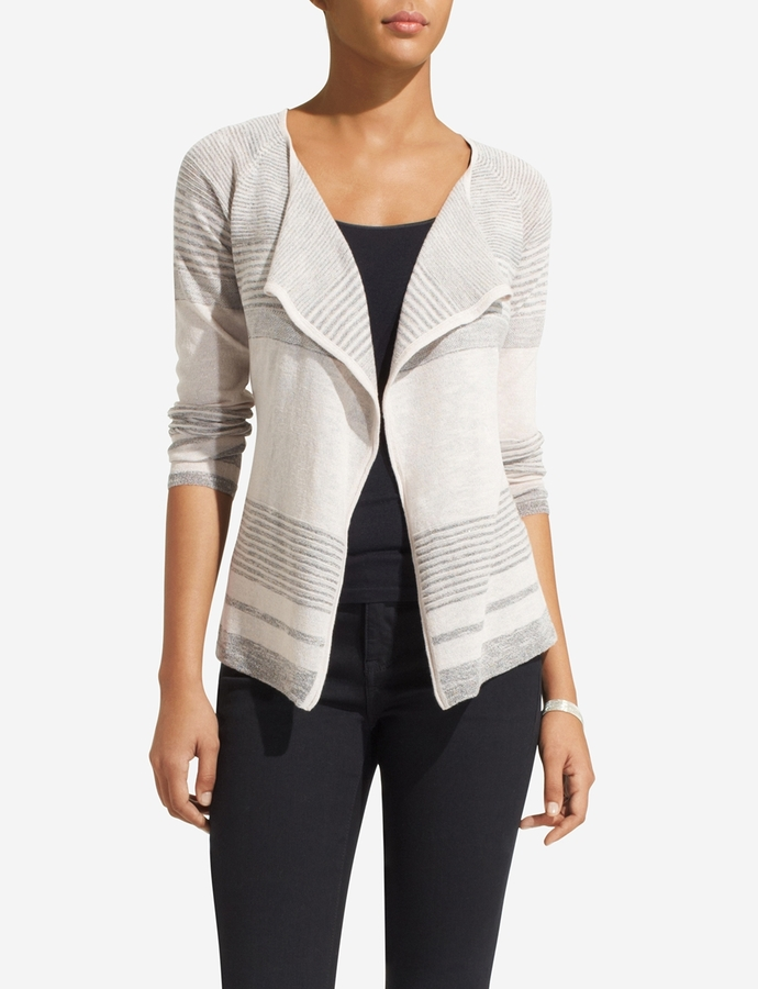 The Limited Striped Belted Cardigan