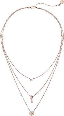 Michael Kors Womens -Tone Charm Chain Necklace