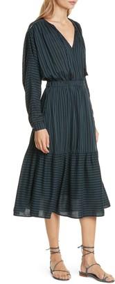 Dolan Margarita Shadow Stripe Long Dolman Sleeve Cotton Blend Dress