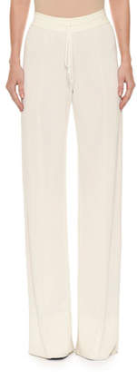 Ermanno Scervino Tie-Waist Pull-On Wide-Leg Pants