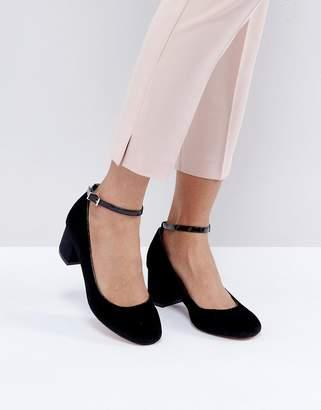 Faith Alexia Ankle Strap Block Heeled Shoes