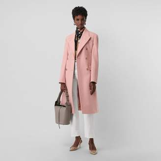 Burberry Double-breasted Wool Tailored Coat , Size: 06, Pink