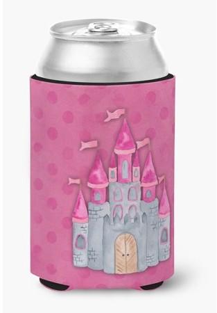 Caroline's Treasures Princess Castle Watercolor Can or Bottle Hugger