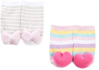 Cuddl Duds Rattle Socks Set - 2 Pairs (Baby Girls)