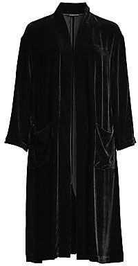 Eileen Fisher Women's Long Velvet Kimono Jacket