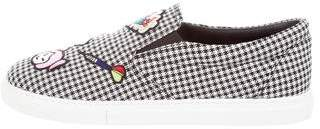 Mira Mikati Houndstooth Slip-On Sneakers w/ Tags