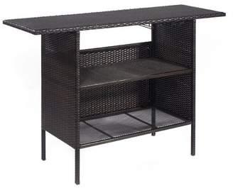Ebern Designs Huston Outdoor Rattan Wicker Counter Bar Table
