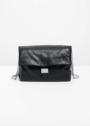 And other stories Leather Fold-Over Bag