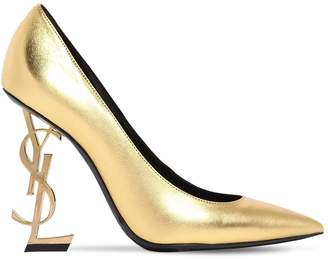 Saint Laurent 110mm Opyum Metallic Leather Pumps