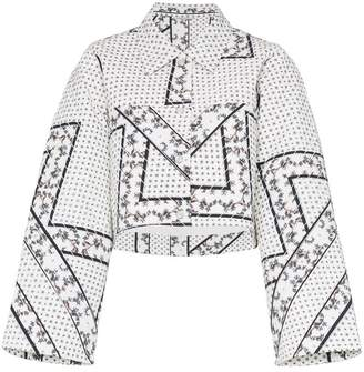 Ganni Elkhart printed collar jacket