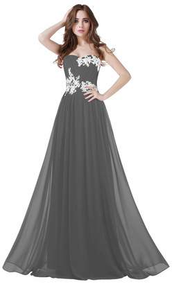 CaliaDress Women Long Applique Evening Bridesmaid Dresses Prom Gowns C001LF US