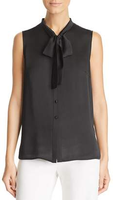 Misook Tie-Neck Sleeveless Blouse