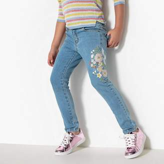La Redoute Collections Embroidered Slim Fit Jeans, 3-12 Years