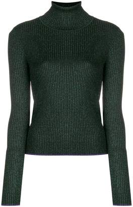 Marco De Vincenzo glitter roll neck jumper