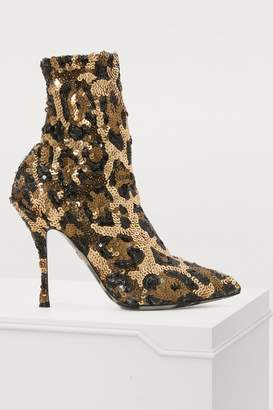 Dolce & Gabbana Leopard print sock ankle boots
