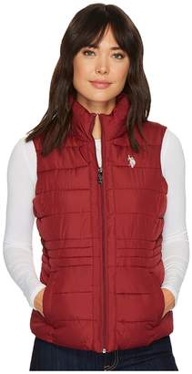 U.S. Polo Assn. Quilted Vest with Sherpa Lining Women's Vest
