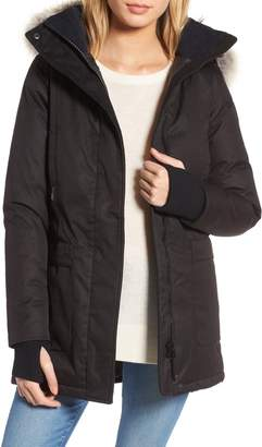 nobis Carla Hooded Down Parka with Genuine Coyote Fur Trim