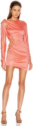 Versace Cocktail Cutout Mini Dress in Orange | FWRD