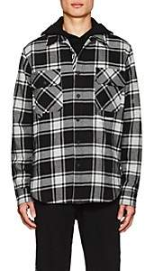 Off-White Off - White c/o Virgil Abloh Men's Checked Cotton-Blend Shirt - White