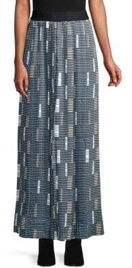 Beatrice. B Graphic Print Pleated Maxi Skirt