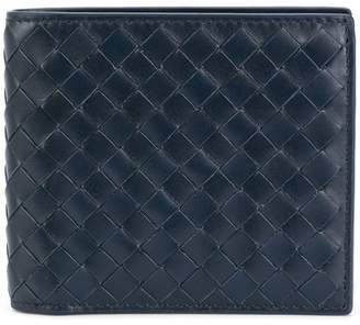 Bottega Veneta light tourmaline Intrecciato coin purse bi-fold wallet