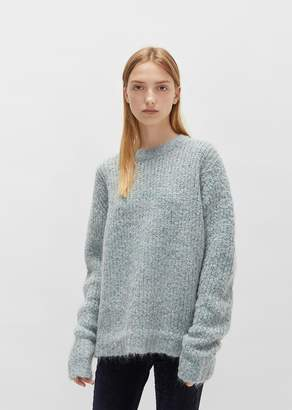 R 13 Boucle Crewneck Sweater Light Blue